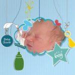 Fotomontaje de Baby Shower niños