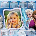 Fotomontaje de Calendario Frozen 2015