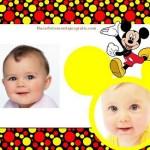 Fotomontaje de Mickey para dos fotos