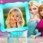 Fotomontaje de Frozen con Calendario 2015