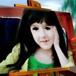 Fotomontaje de retrato en un cuadro