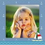 Fotomontaje para bebés cuadro con barquito