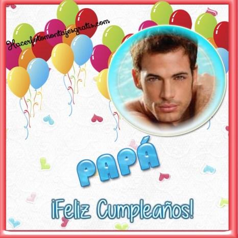 Fotomontaje Feliz Cumpleaños Papá con globos