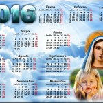 Fotomontaje de Calendario 2016 de la Virgen María
