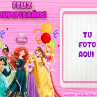 Fotomontaje de Cumpleanos Princesas Disney