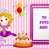 Fotomontaje de Cumpleanos Princesas