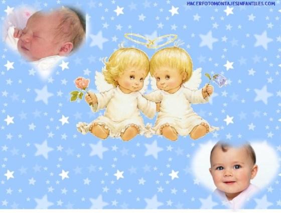 Fotomontaje de angeles para bebes