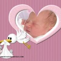 Fotomontaje de nacimiento de niñas