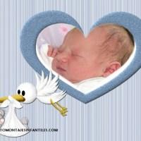 Hermoso fotomontaje para Nacimiento de niños