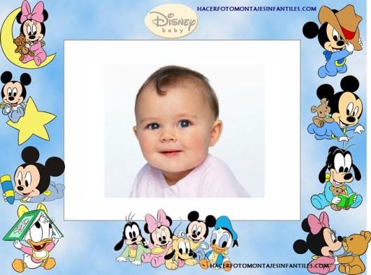 Fotomontaje para bebes de Disney Babies