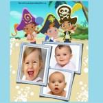 Fotomontaje de Jake y Los Piratas para tres fotos