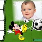 Fotomontaje de Mickey futbolista