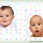 Fotomontaje infantil para dos fotos