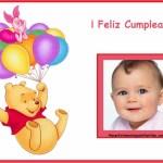 Fotomontaje de Feliz Cumpleaños con Pooh