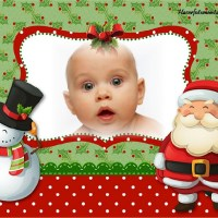 Fotomontaje de Navidad con Papá Noel