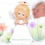 Fotomontaje con angelito tierno
