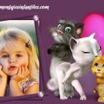 Fotomontaje infantil con gatitos