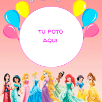 Fotomontaje de Feliz Cumpleanos Princesas Disney