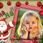 Fotomontaje junto a Papá Noel