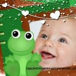 Fotomontaje infantil con Sapito