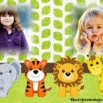 Fotomontaje infantil de animalitos