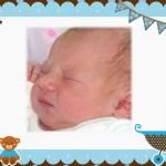 Fotomontaje para Baby Shower varones