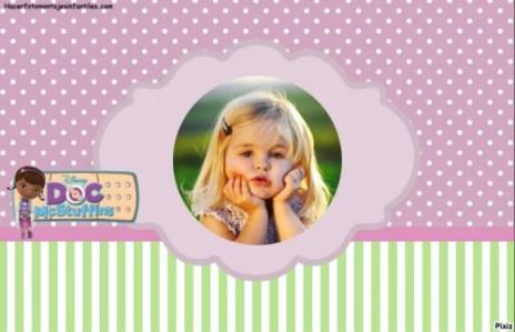 Fotomontaje de DOCTORA Juguetes para etiquetas tarjetas invitaciones