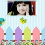 Fotomontaje infantil con pajaritos