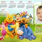 Fotomontaje de Calendario 2016 Winnie Pooh
