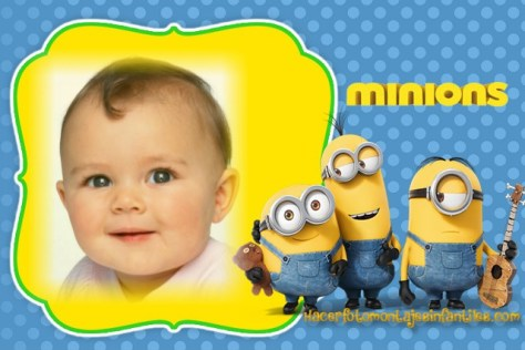 Marcos infantiles de Minions para editar fotos. Efectos para fotos MINIONS. Fotomontajes de MINIONS gratis en linea