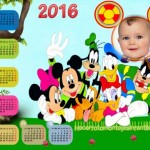 Fotomontaje de Calendario 2016 Mickey