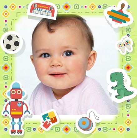 Fotomontaje gratis para fotos de bebes fotomontajes infantiles - Marcos fotos bebes ...