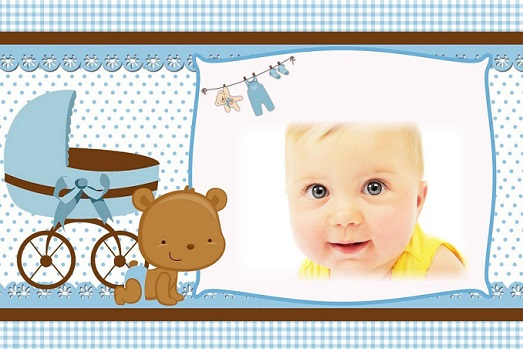 Fotomontaje de Baby Shower o Bautismo niños