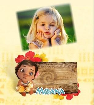 Fotomontaje Moana Bebe - marco infantil de Moana baby - Fotomontajes moana disney - imagenes moana -