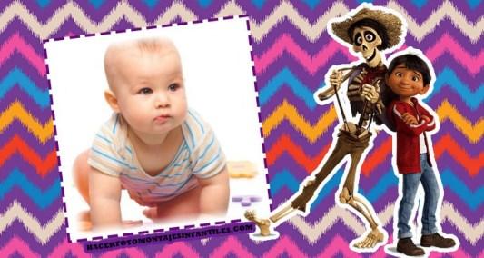 Fotomontajes de COCO Disney Pixar - Marcos infantiles de Coco disney miguel y hector