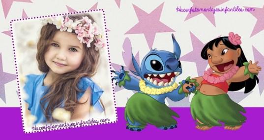 Lilo y Stitch fotomontajes - Lilo y Stitch marcos para fotos