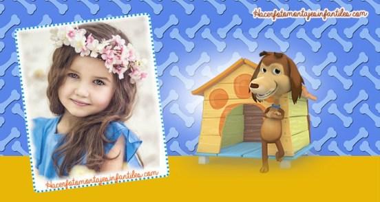 Perro chocolo fotomontajes infantiles