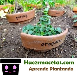 macetas rota como organizador de jardin