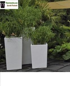 macetas de cemento pintadas a mano para decorar el jardin