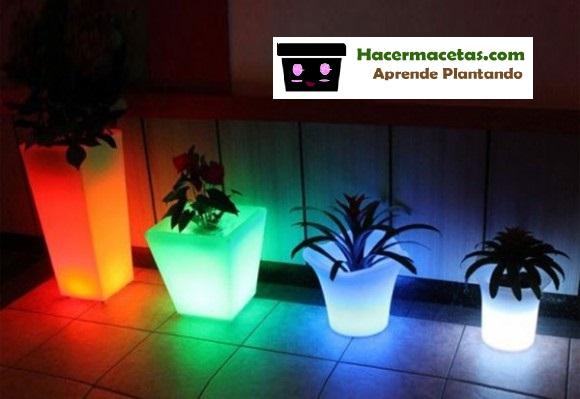 Como hacer con tu macetas algo m gico y destaca tu jardin - Macetas con luz ...