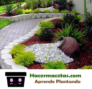 Como hacer con tu macetas algo m gico y destaca tu jardin for Jardines con piedras y macetas