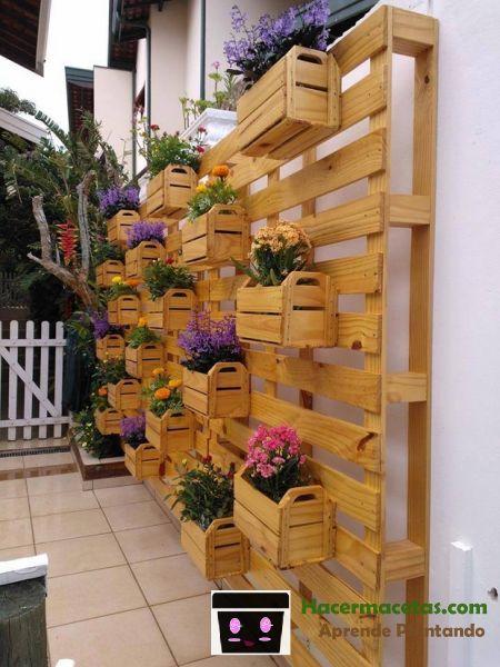 maceteros de madera originales