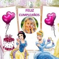 Marco de Feliz Cumpleaños con las Princesas