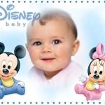 Marco de Minnie y Mickey bebés