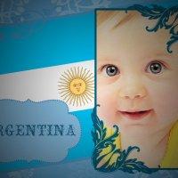 Marco para fotos con la Bandera Argentina