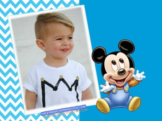 Baby Mickey frames for photo