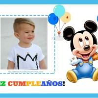 Marcos Feliz Cumpleanos con Mickey para editar con Foto