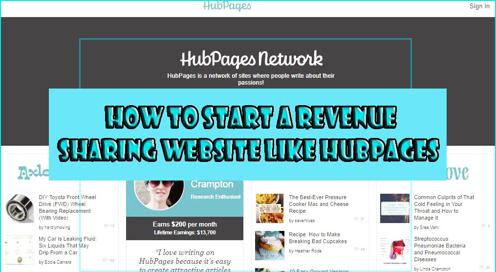 How to use hubpages