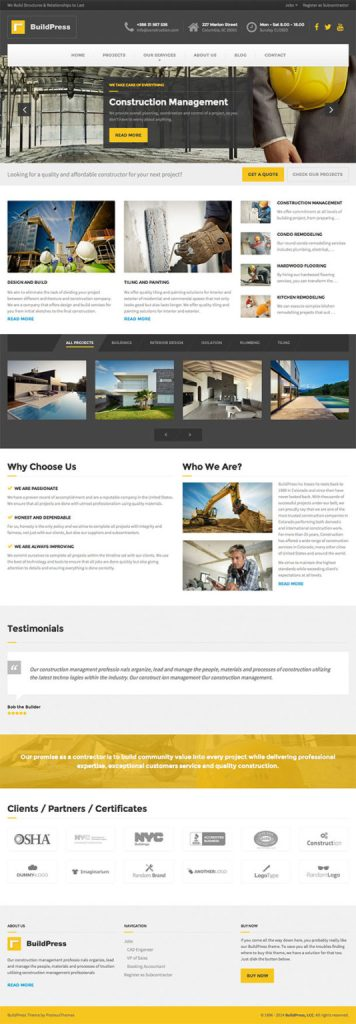 How to build Construction Website for building and civil
