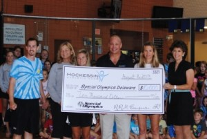 HAC check presentation for special olympics delaware